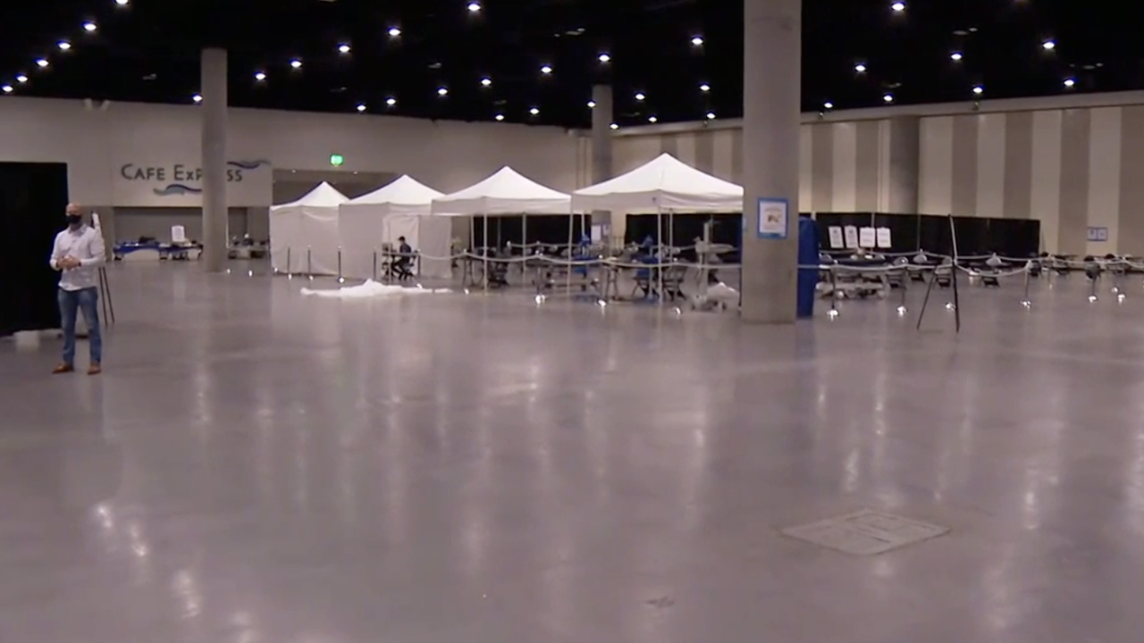 San Diego Convention Center migrant shelter