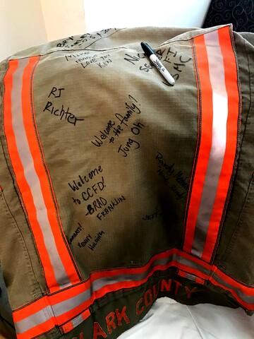 PHOTOS: World War II veteran named honorary Clark County firefighter