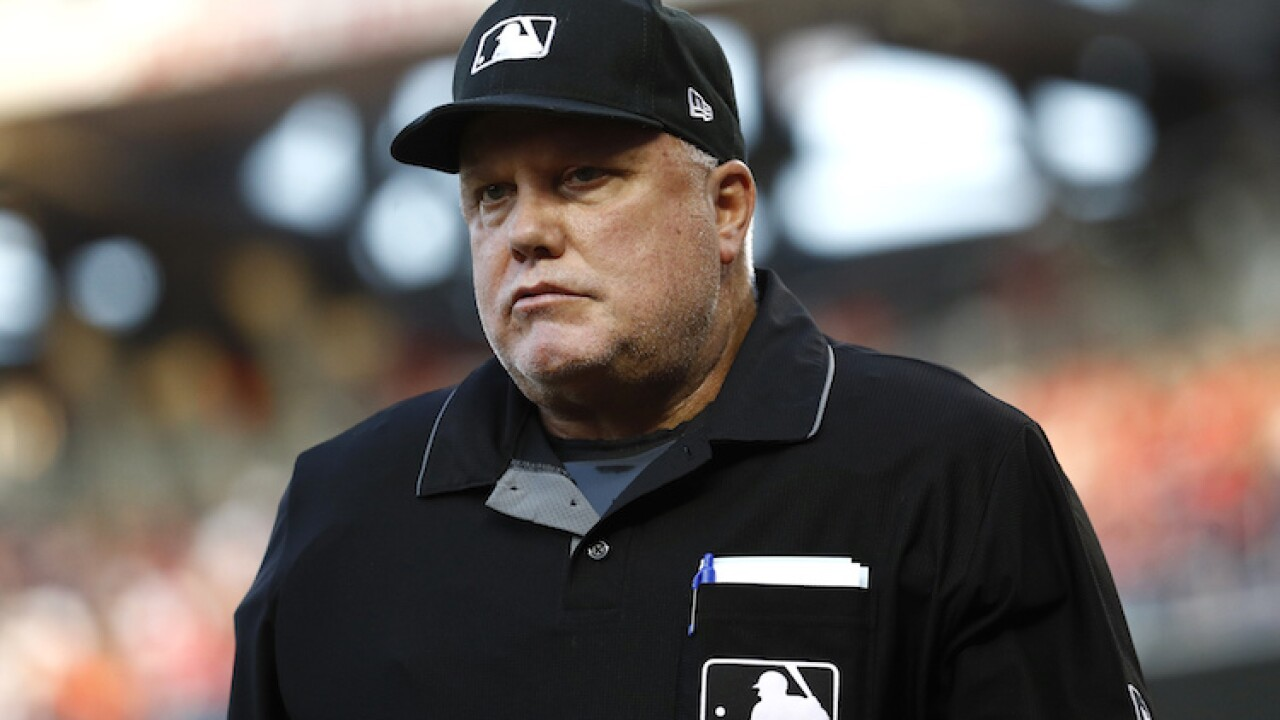 MLB umpire Brian O'Nora arrested in Ohio as part of human trafficking sting