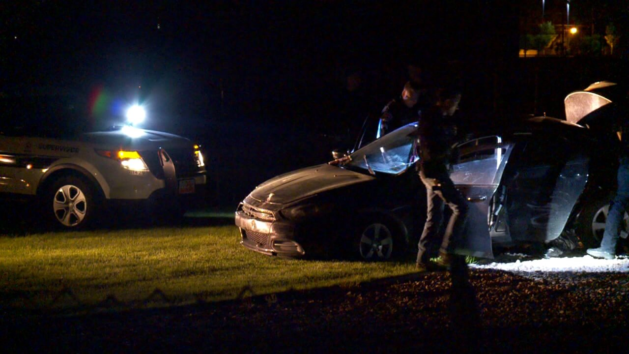 Stolen car chase ends on Granger High football field, couplearrested