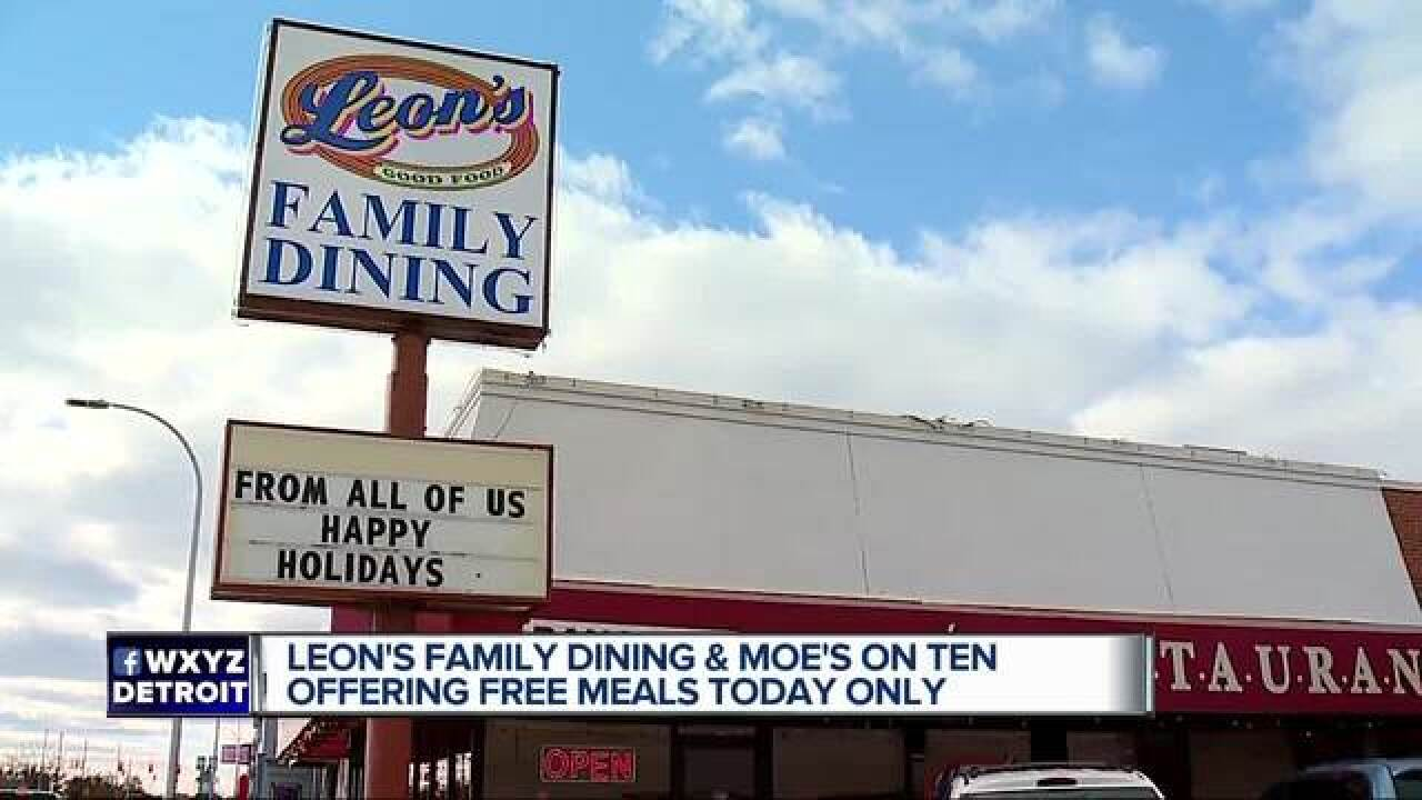 Metro Detroit restaurants giving away free Thanksgiving dinners