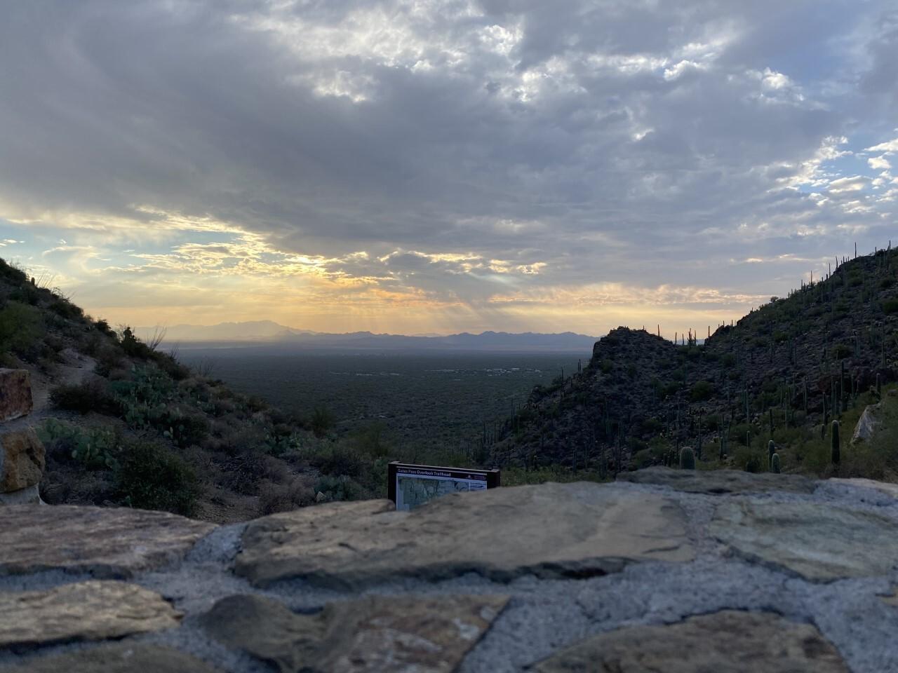 Gates Pass through Tucson Mountains