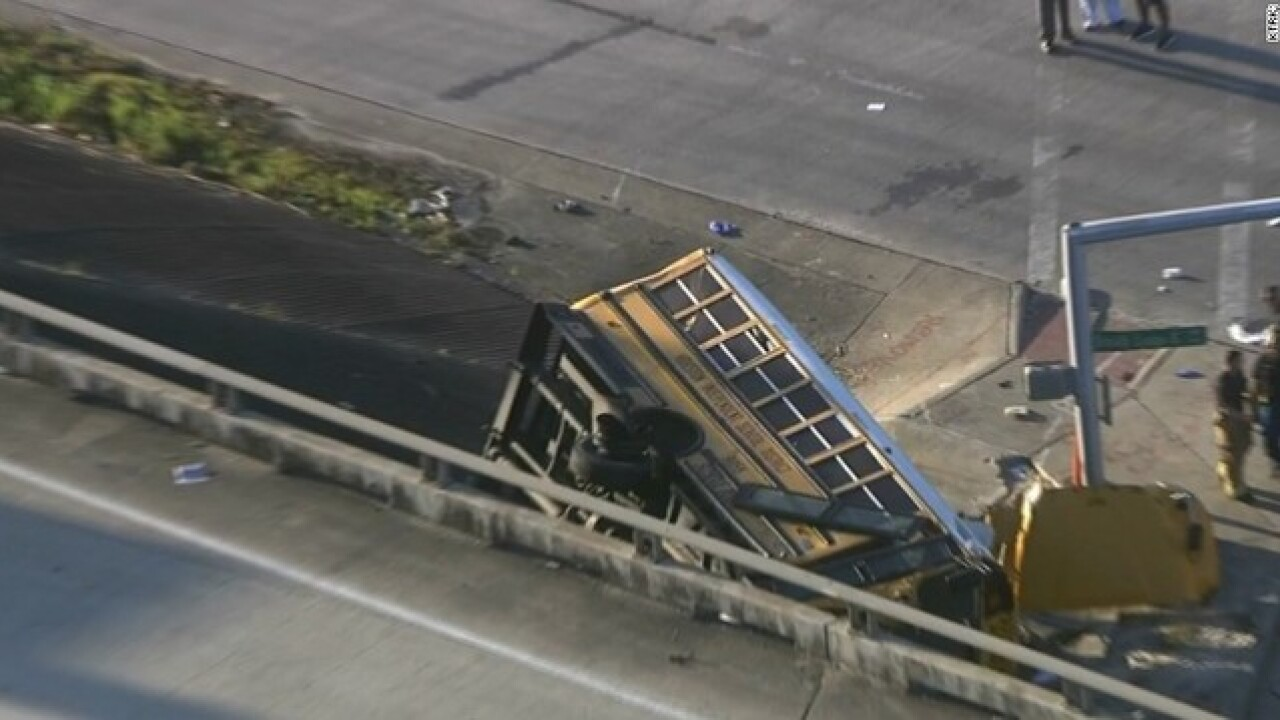 Bus crash in Houston kills two students