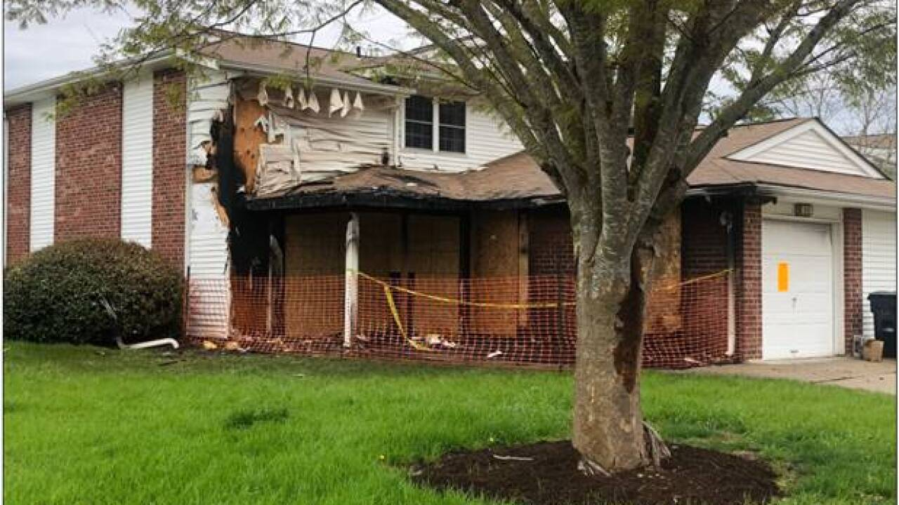 House damaged by fire in Chesapeake