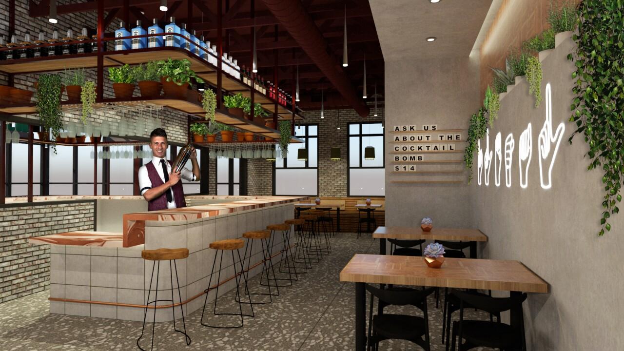 Ilegal Modern Cocktail Kitchen rendering