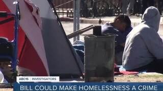 New bill could make homelessness a crime