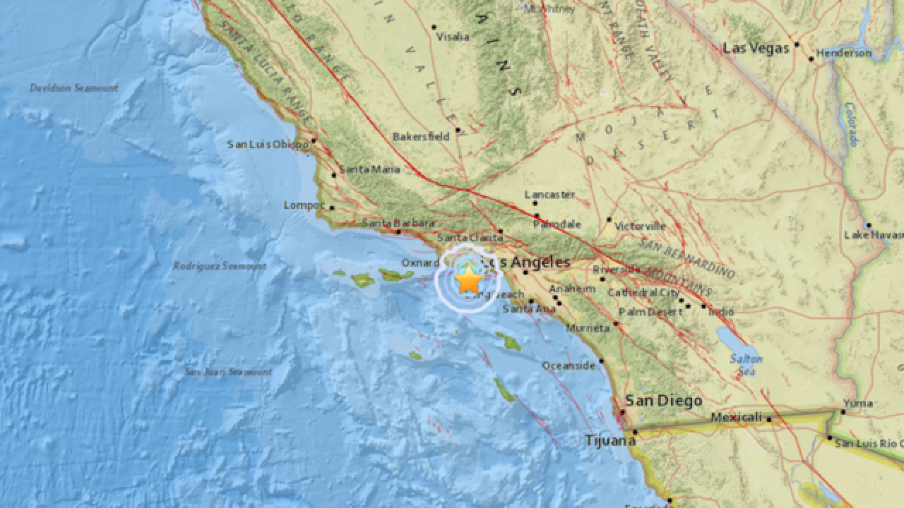 3.3M earthquake strikes near Los Angeles
