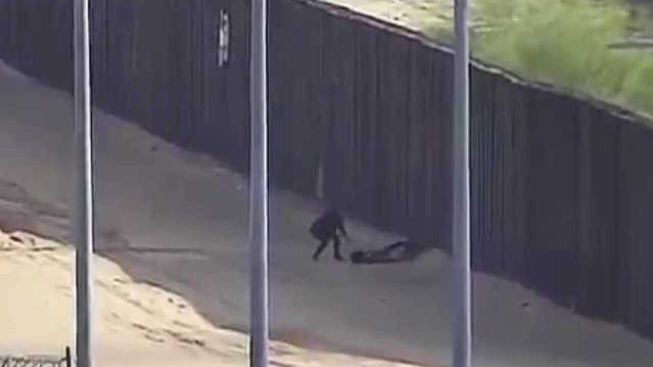 VIDEO: Teens injured falling from border fence
