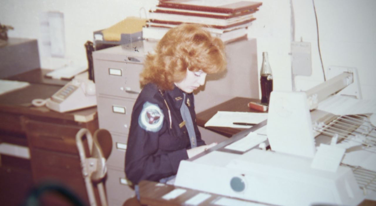 Timberlake Chief of Police Susan Scofield in early career