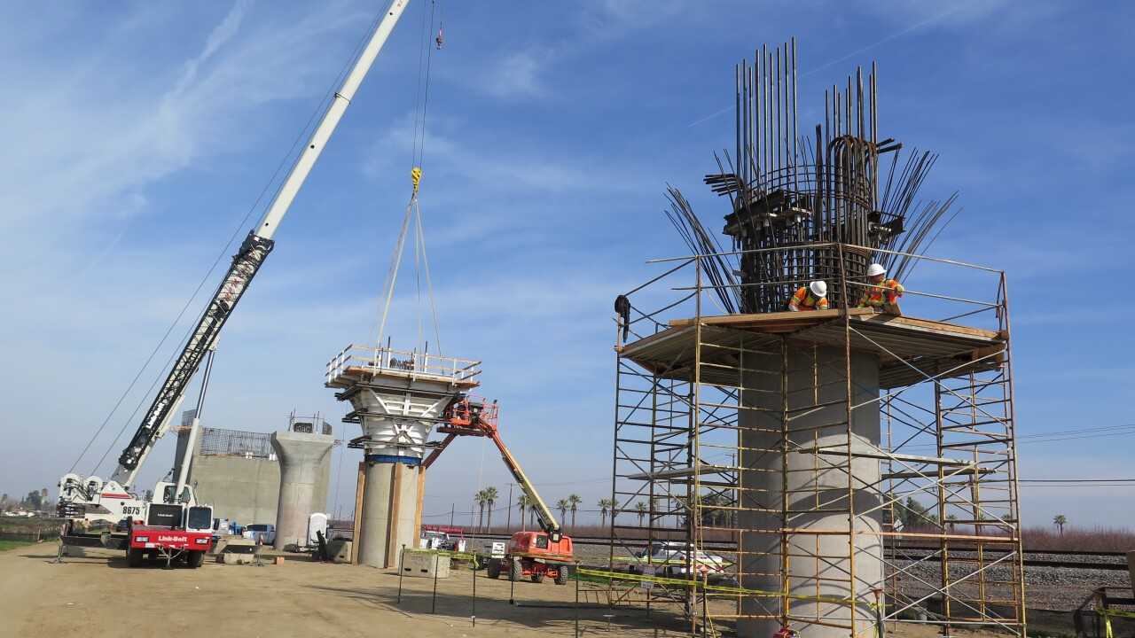 California High-Speed Rail Construction Project, Wasco Viaduct
