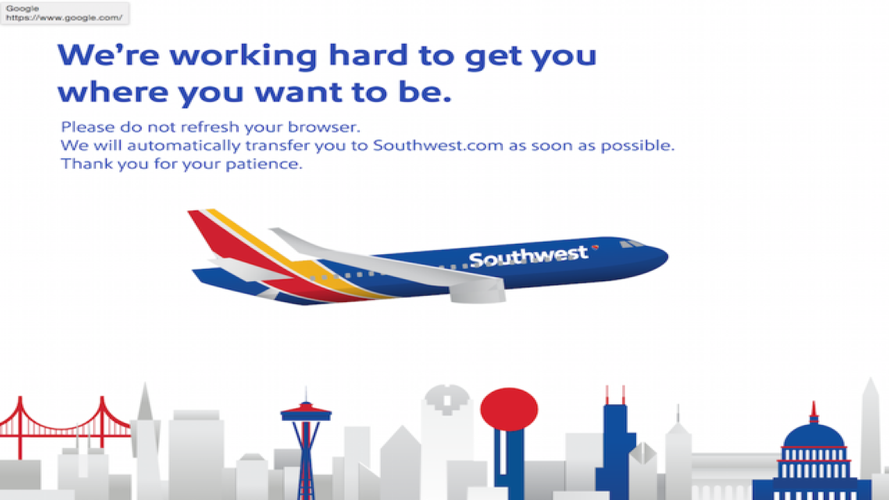 Southwest Airlines experiencing 'system outage'