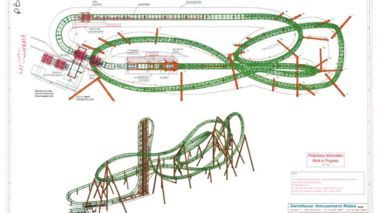 Plans for new roller coaster at Darien Lake