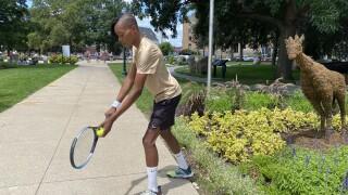 Professional tennis player Lendale Johnson