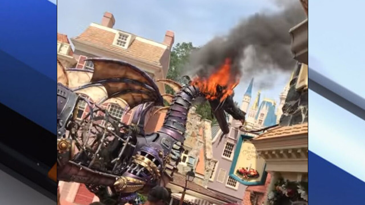 Parade float catches fire at Disney World