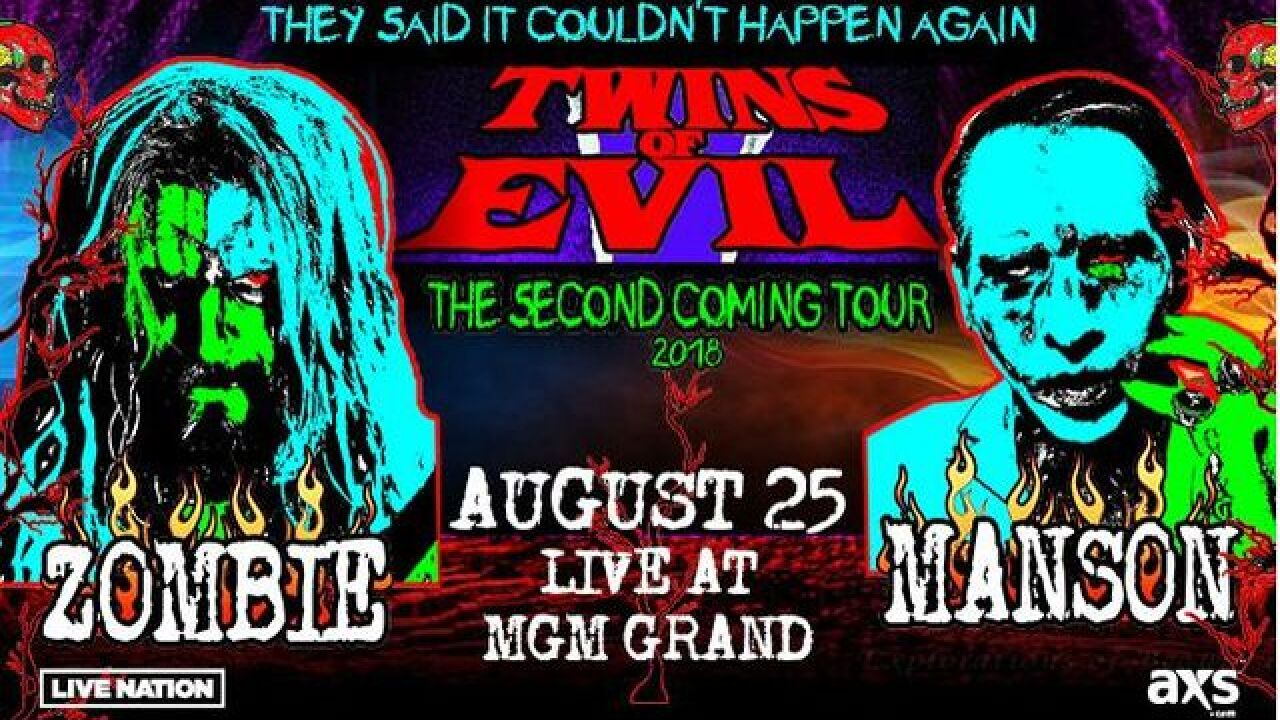 Rob Zombie, Marilyn Manson team up for another 'Twins of Evil' tour despite past problems