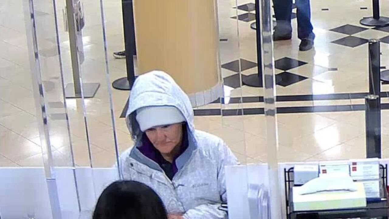 LVMPD seeks woman who attempted to rob bank
