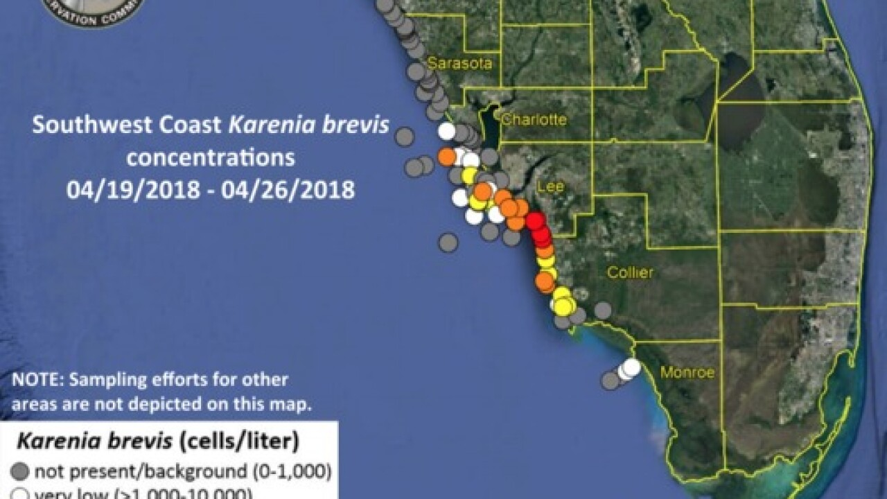Map Southwest Florida.Red Tide Issues Continue Across Southwest Florida
