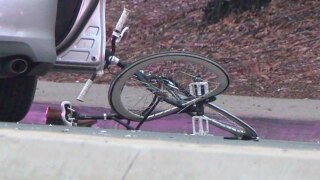 Motorcycle, bicyclist collide on Mira Mesa Blvd.