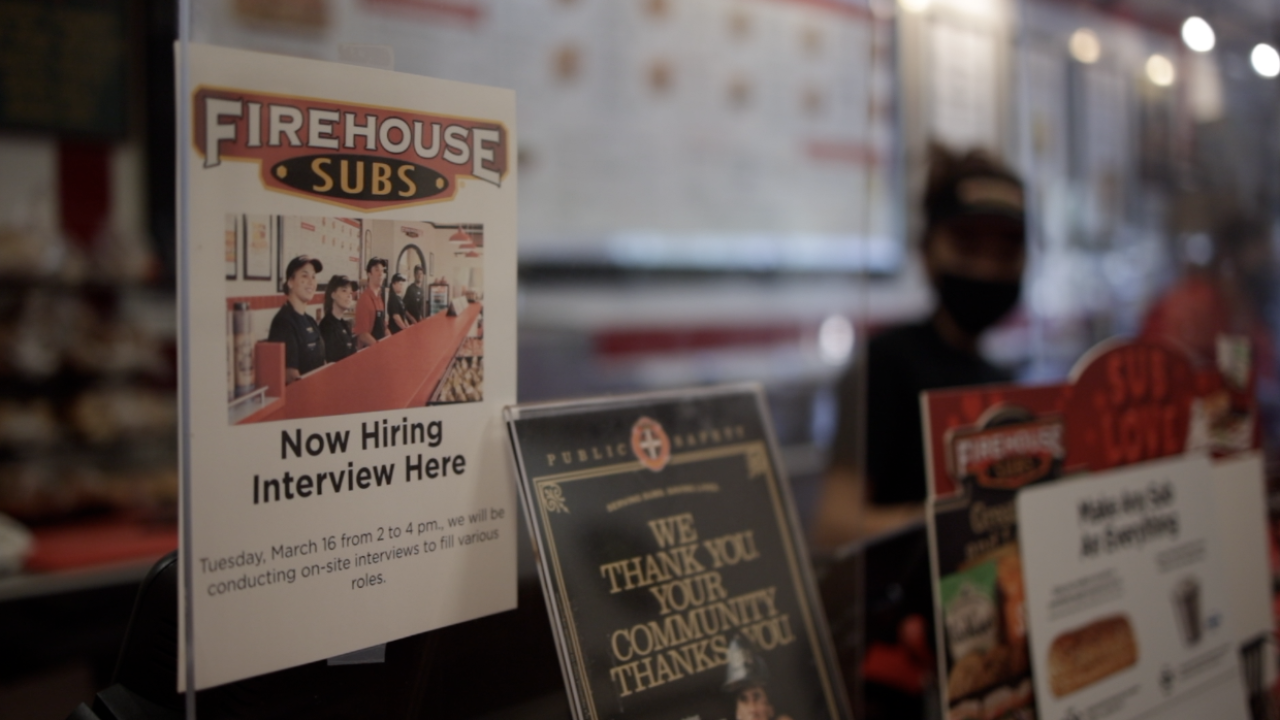 Job fair at Firehouse Subs in Tampa.
