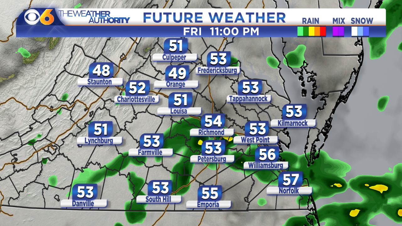 Photos: Hour-by-hour breakdown: When we'll see rain onFriday