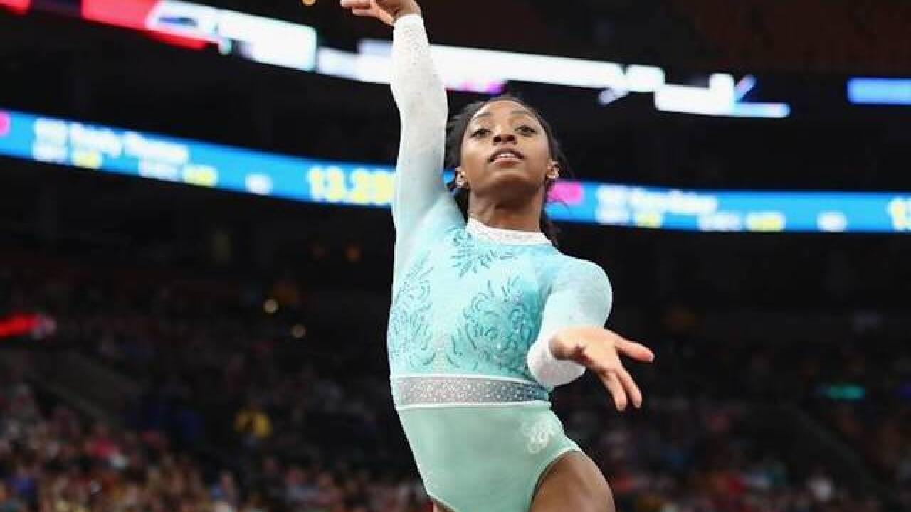 Simone Biles makes history: First woman ever with five U.S. Gymnastics all-around titles
