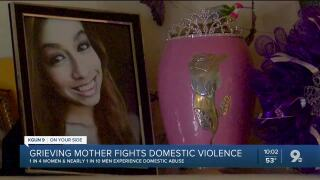 Grieving mother fights domestic