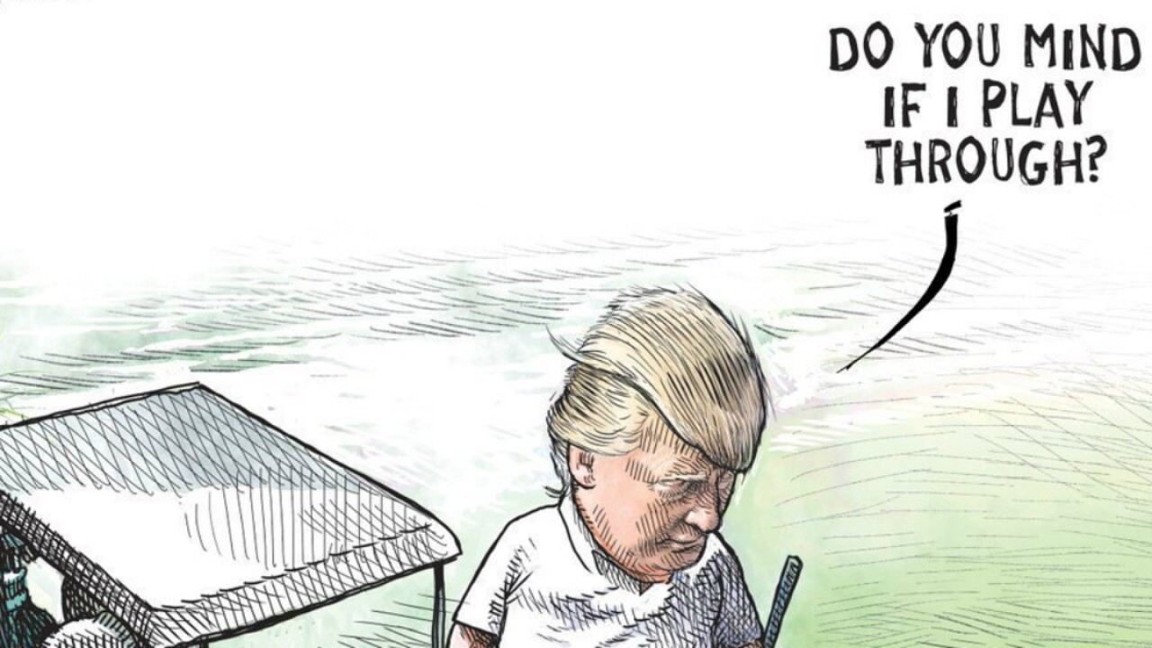 Cartoonist loses job after illustration of Trump goes viral