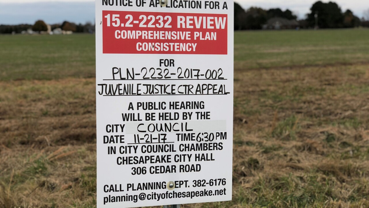 Chesapeake city manager withdraws request for juvenile justicecenter