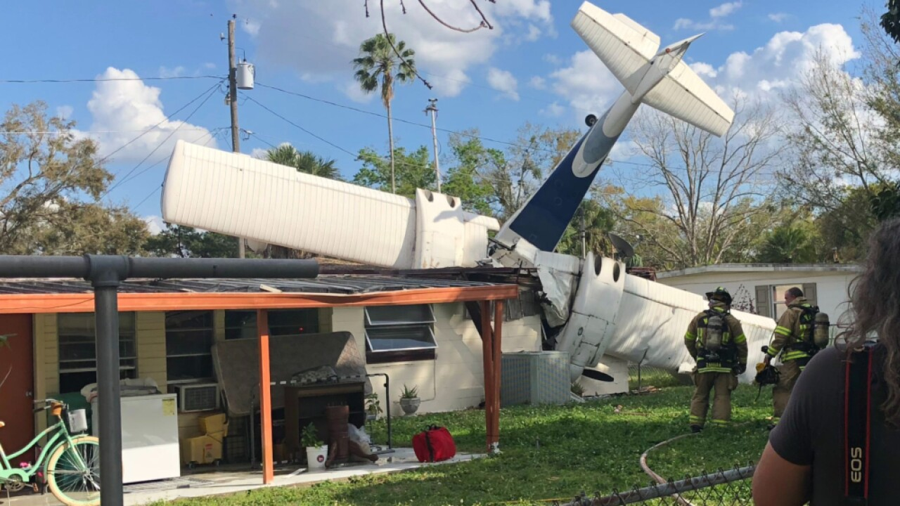 17-year-old survives with minor injuries after plane crashes through FL home, pins her against wall