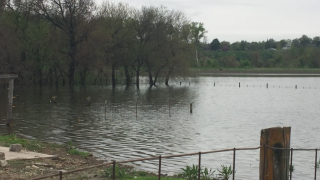 Winthrop, Missouri farm flooding