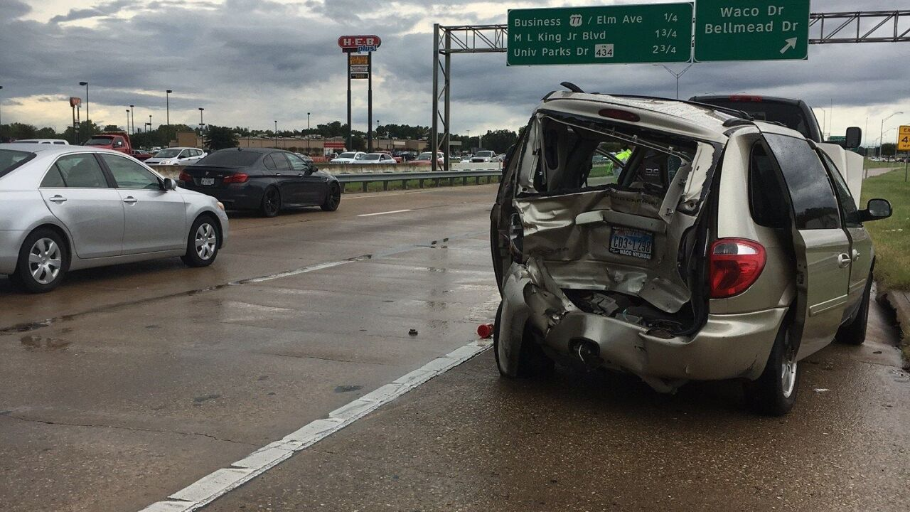 Two taken to hospital after multi-car wreck on I-35