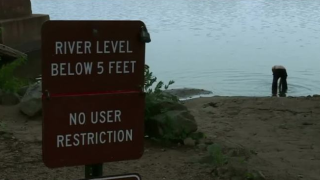 People taking a swim in the James say they were unaware of health advisory