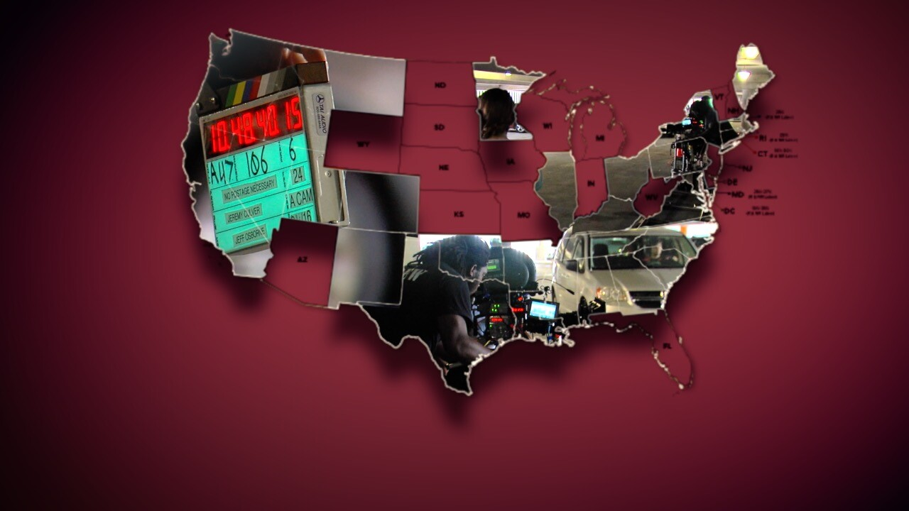 Film production map of United States