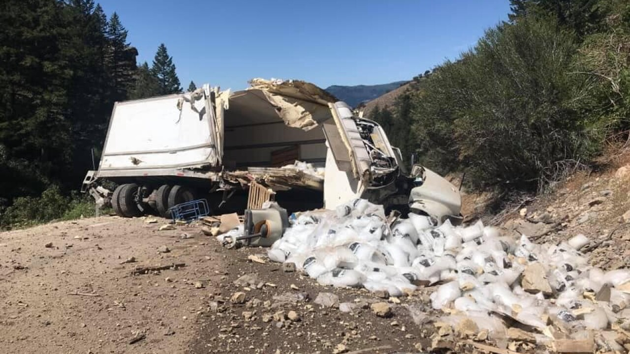 Rollover crash along Tour of Utah route temporarily closes road