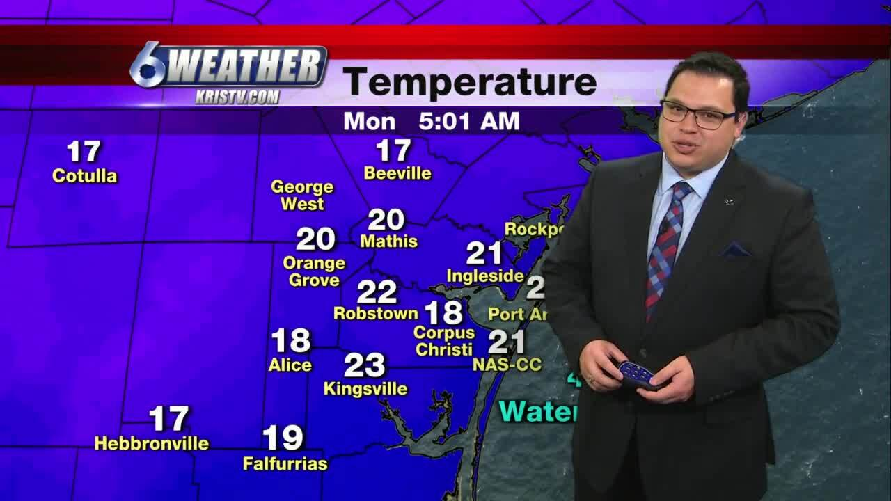 Juan Acuña's weather for Feb. 15, 2021