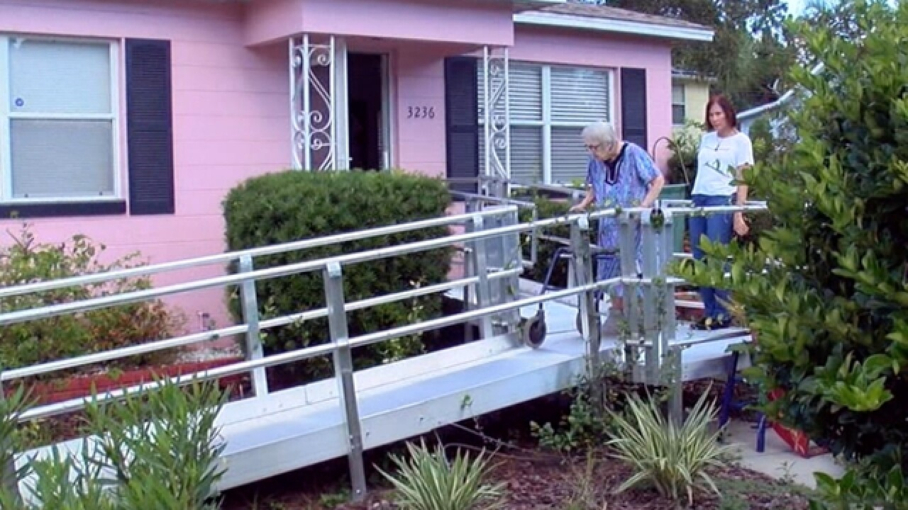 101-year-old Navy veteran and her daughter turn metal wheelchair ramp into beautiful garden