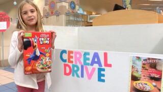 Iliana Gorshe cereal donation drive