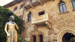 You can win an overnight stay in Shakespeare's Juliet house in Italy