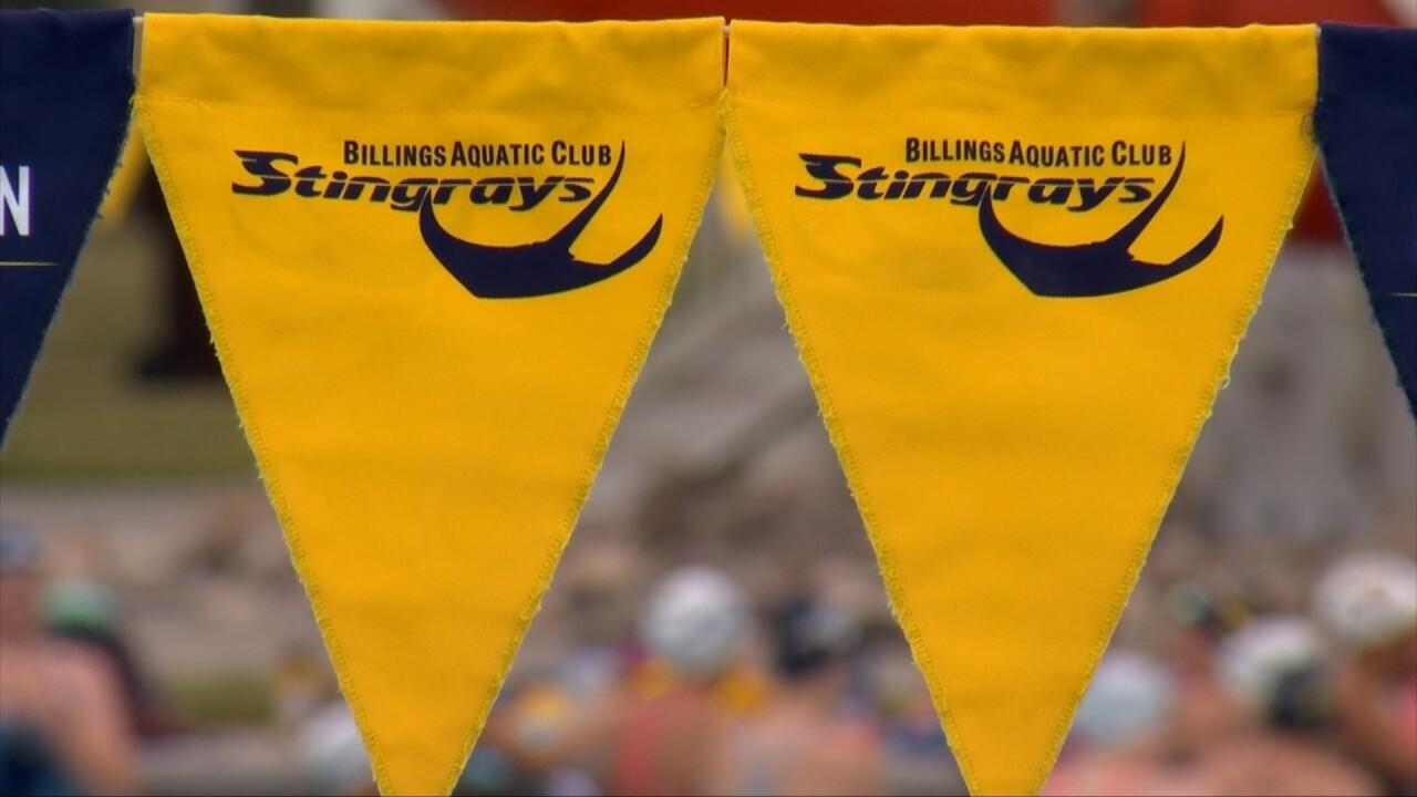 Billings Aquatic Club flags