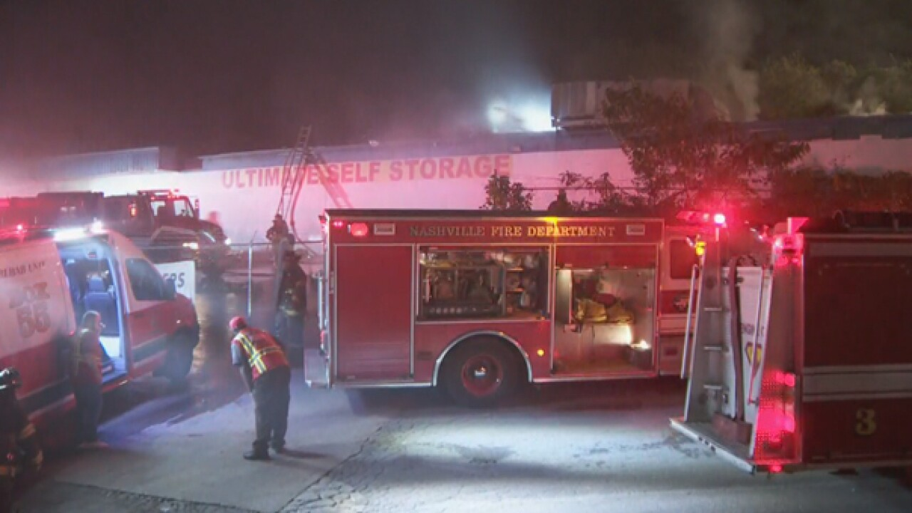 Firefighters Respond To Fire At Self-Storage Building