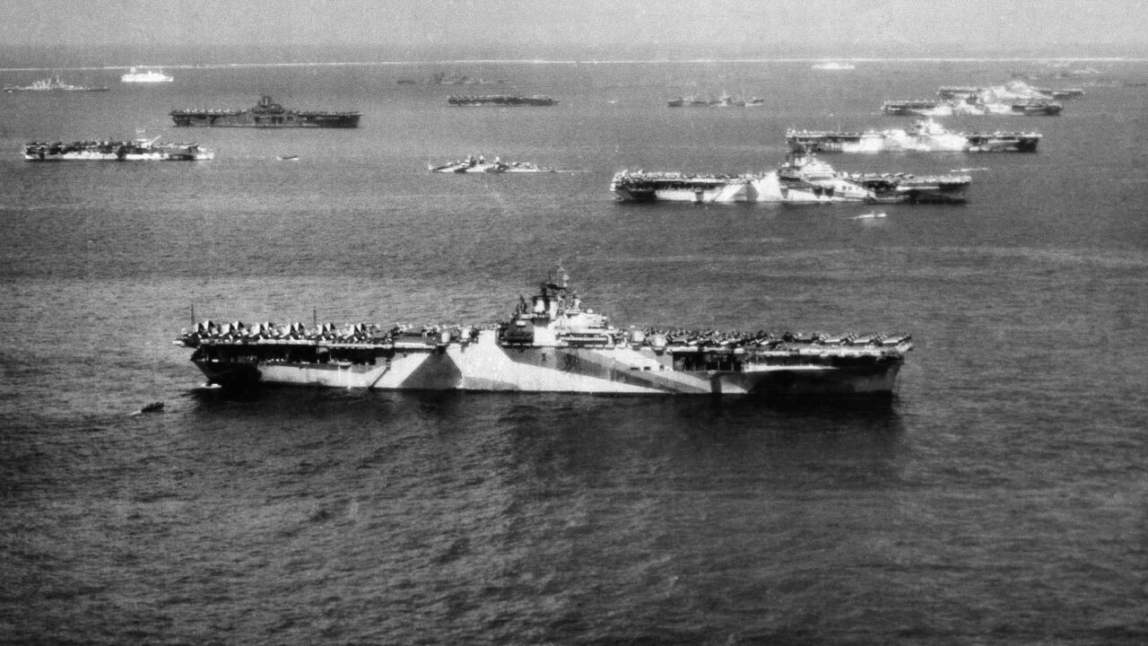 The remains of a World War II aircraft carrier, unseen for 75 years, have been found