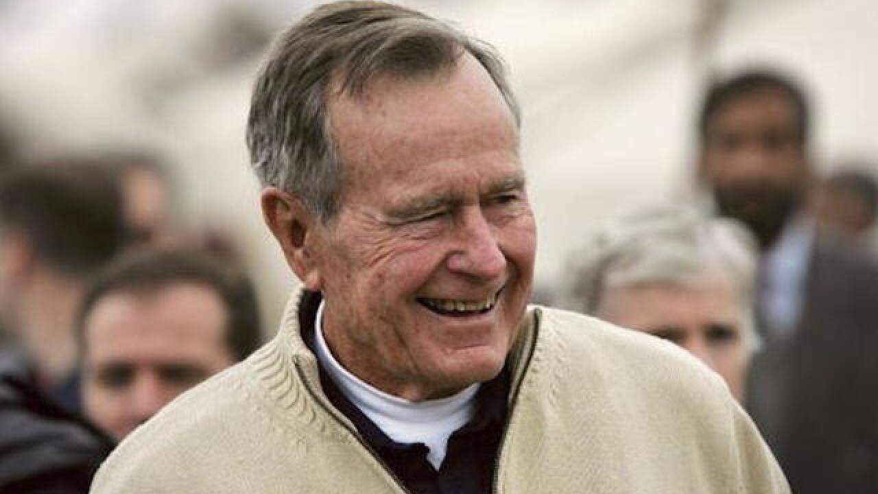 President George H.W. Bush improving, could go home from hospital this weekend