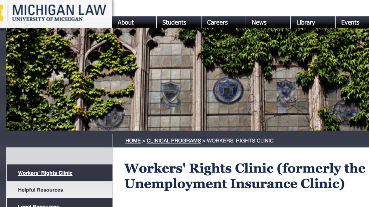 Law group providing free unemployment assistance in Michigan