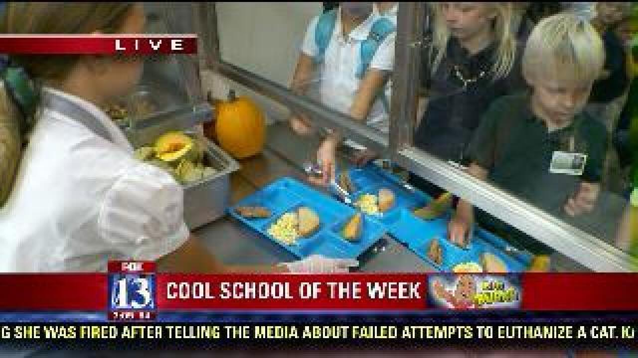 School meals feature fresh ingredients