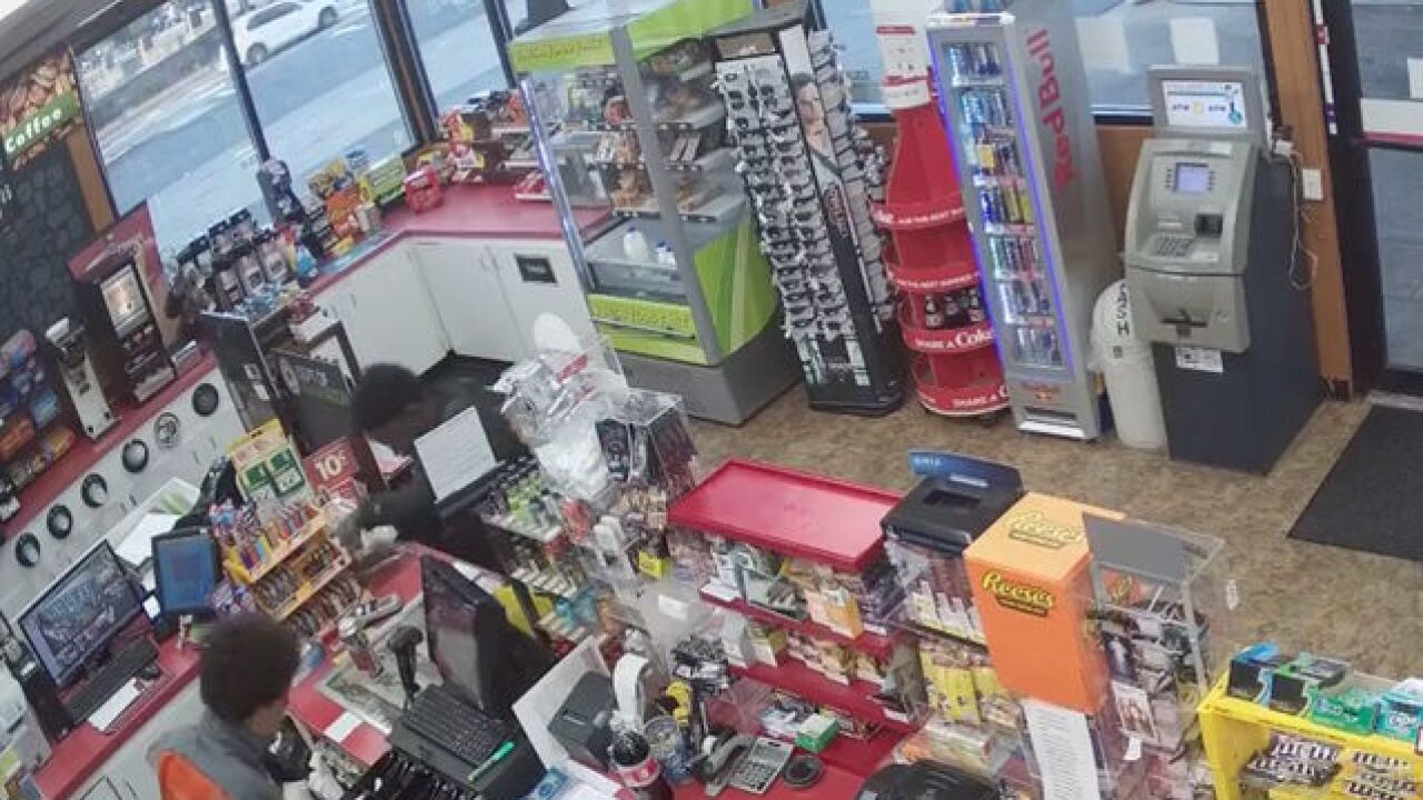 VIDEO: Teens step over collapsed gas station clerk to rob cash register