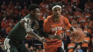 Dosunmu hurt after Spartans' late dunk; No. 22 Illini fall