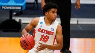 Florida Gators guard Noah Locke in 2021 NCAA tournament