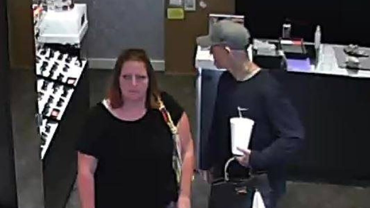 Authorities ask for help identifying pair suspected of stealing sunglasses in Summit County