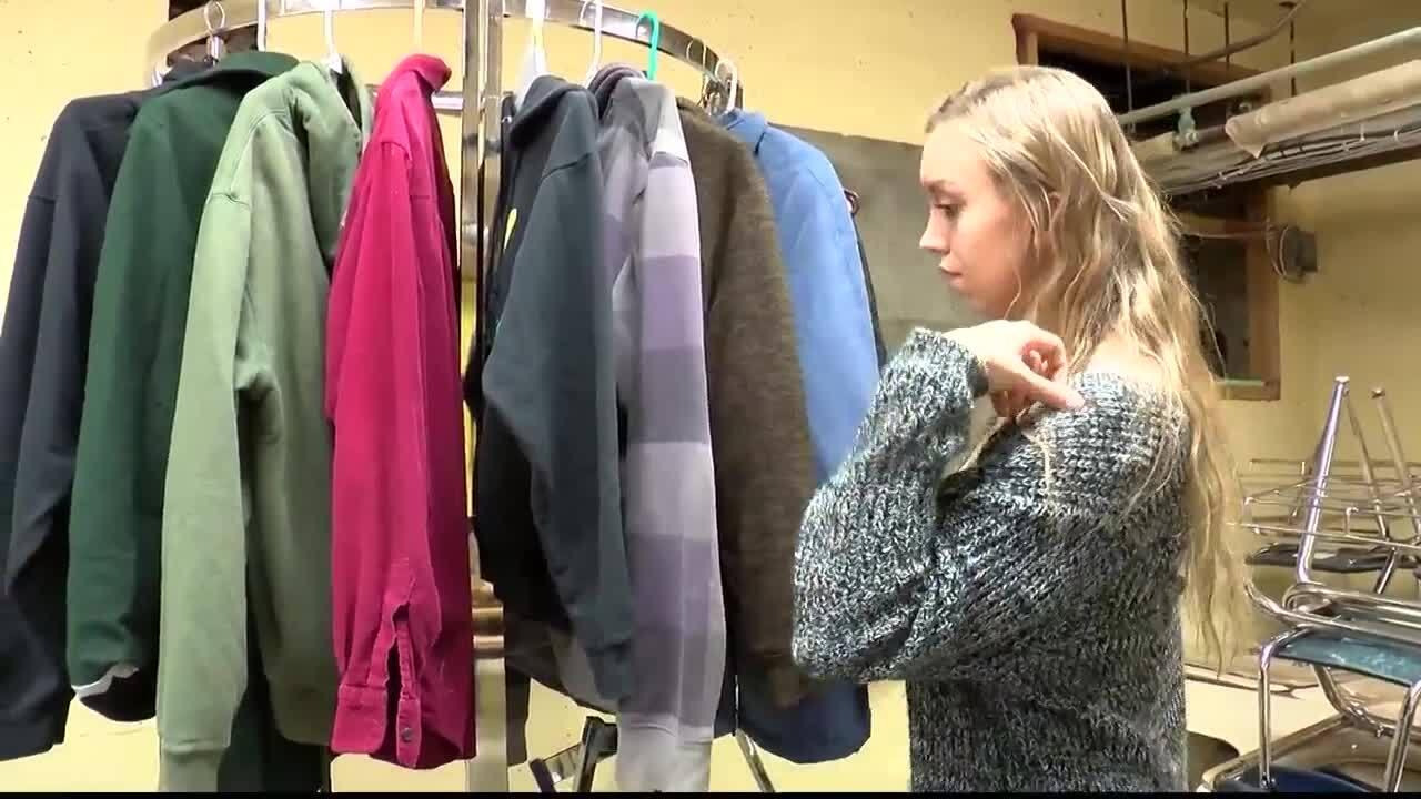 Columbia Falls HS Clothing Rack