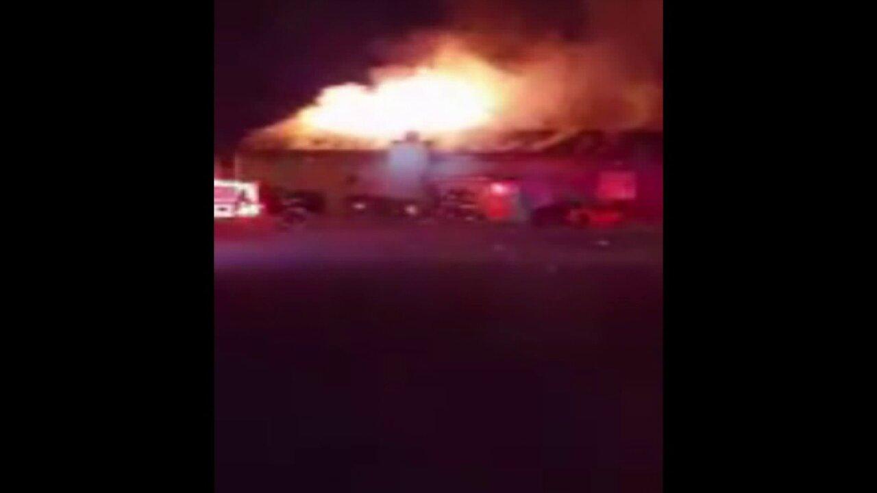Petersburg bar goes up inflames